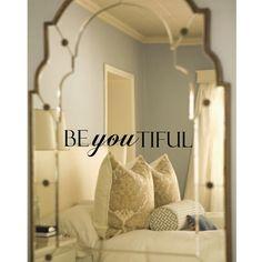 Beyoutiful Beautiful Mirror Decal by luxeloft on Etsy, $9.50