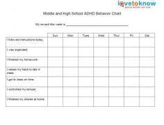 elementary behavior chart for adhd | Travel | Pinterest ...