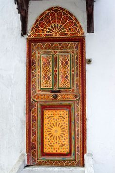Colorful door. Morocco