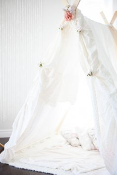 A sheeted tent & a Tutu Party from Photography by Sarah Anne  Read more - http://www.stylemepretty.com/living/2013/07/19/a-tutu-party-from-photography-sarah-anne/