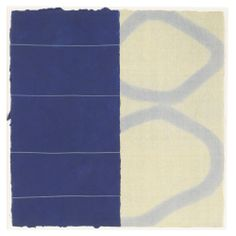 David Shapiro B.1943 MUDRA NO. 16 (BLUE) on two sheets of wove paper numbered 13 (lower right corner of left sheet edge) etching, collagraph and drypoint printed in colours overall sheet: 46.5 by 46cm. Executed in 2001, the present work is from an edition of 20.