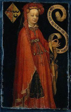 Bells on the belt!  :)  Also nice hat.    Title  Lijsbeth van Duvenvoorde  Year  c. 1430