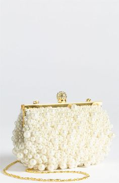 pearl and bead bag/clutch