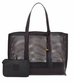 Get one of the hottest styles of the season! The Frye Bag New Peyton Perforated Black Leather Tote is a top 10 member favorite on Tradesy. Saddle Leather, Black Leather Tote, Black Tote Bag, Designer Handbags On Sale, Vintage Bags, Bag Sale, Pouch, Purses, Accessories