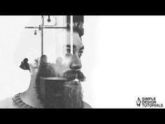 Easy Double Exposure in Photoshop - Simple Design Tutorials. - YouTube