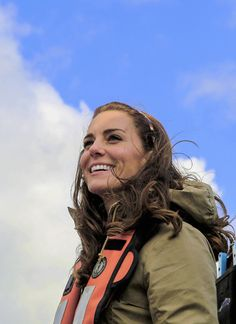 "duchesscambridges: "" ""Catherine, Duchess of Cambridge, smiles as she joins Skidegate Youth Centre children on a fishing trip during the Royal Tour of Canada on September 30, 2016."" """