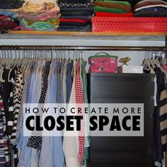 Make your small apartment or dorm closet feel bigger with these tricks! Dorm Closet, College Closet, College Dorm Rooms, Closet Space, Closet Storage, College Tips, College Success, Dorm Room Organization, Organization Hacks