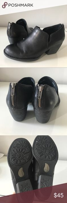 Size 9 born shooties Cute little everyday shoe/bootie heel is approx 1.75 inches. Size 9, leather. Born Shoes Heels