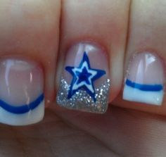 dallas cowboy nail art | Dallas Cowboys Nails by Sharla @ Individual Salon