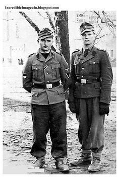 Estonian recruits in the German SS. These guys must have been lynched at the end of the war