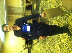 Christian is sporting his name tag at PRSA's Sunshine Conference