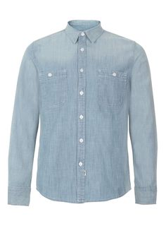 Blue chambray shirt- Topman