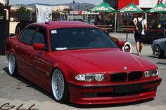 BMW E38 Imola Rot with Style 32 20""