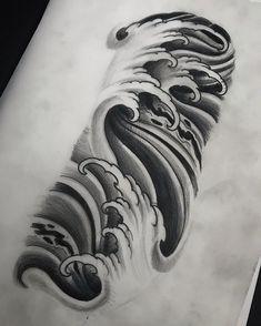 Background and waves done tattoo tattooart tattooartist tattoocollective uktta art artwork artcollective artist artnerd Japanese Water Tattoo, Japanese Tattoo Art, Japanese Tattoo Designs, Japanese Sleeve Tattoos, Japanese Design, Irezumi Tattoos, Kunst Tattoos, Bild Tattoos, Tattoo Drawings