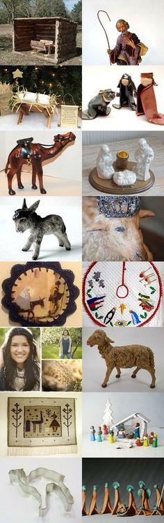 Away In A Manger by Nancy and Tania on Etsy--Pinned with TreasuryPin.com