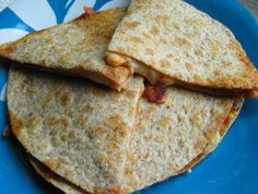 Lunchbox Pizza Quesadilla: Four ingredients, super simple and open to lots of variations