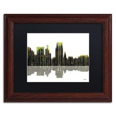 Boise Idaho Skyline by Marlene Watson Framed Graphic Art