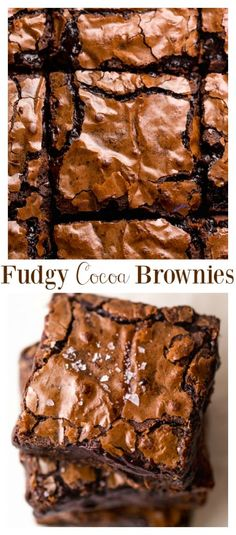 The Best Cocoa Fudge Brownies - Baker by Nature - - Skip the boxed brownie mix and make The BEST Cocoa Fudge Brownies instead! Thick, chewy, fudgy, and so easy! Brownie Recipe Without Chocolate, Best Brownie Recipe, Brownie Recipes, Recipe For Brownies, Chocolate Chips, Chocolate Tarts, Mint Chocolate, Chocolate Cake, Cocoa Powder Brownies
