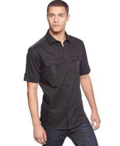 b6bb9695 Sean John Tape-Trim Shirt & Reviews - Casual Button-Down Shirts - Men -  Macy's