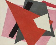 "Painterly Architectonic  Lyubov Popova (Russian, 1889–1924)    1917. Oil on canvas, 31 1/2 x 38 5/8"" (80 x 98 cm). Philip Johnson Fund"