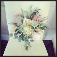 Australian Made Native Australian Pastel Soft Bridal Bouquet