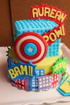 Super Hero Cake - This is one of the best I've seen!