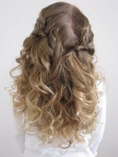 cute half up for curly hair