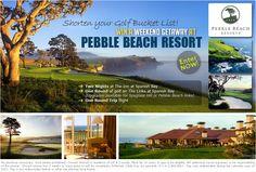 Pebble Beach Vacation Giveaway #golf #vacation