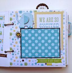scrapbook mini album baby boy premade personalized boys baby
