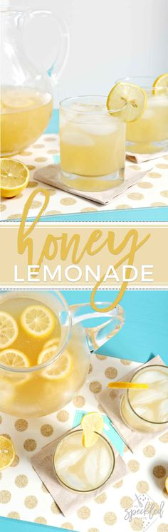 Cool off with a glass of refined sugar-free and paleo-friendly Honey Lemonade this summer! #recipe #drink #paleo