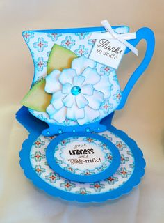 Paper Creations by Kristin: Tea Cup Easel Cards