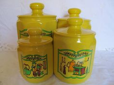 Vintage Kromex Aluminum Canisters Set of Four by CheshiresFantasy, $26.00 #v2team