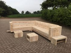 Scaffolding Wooden Pallets Couch | Pallets Ideas (shared via SlingPic)