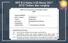 RPP K13 Kelas 4 SD Revisi 2017 2018