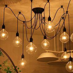 12 Head Industrial Vintage Edison Chandelier Pendant Ceiling Lamp Fixture