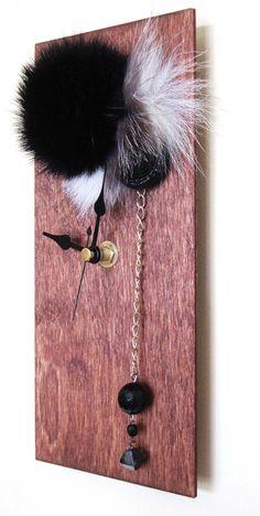 Jeweled Fur Wall Clock.   $30.00 via Etsy.