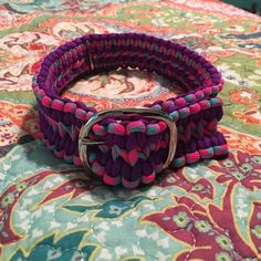 Paracord dog collar An adjustable dog collar made out of 550 cord, the leash will not come apart Other