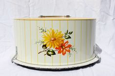 Vintage Decoware Cake Tin / Carrier by VintagePinkAntique on Etsy