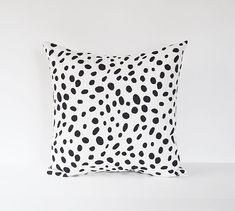 Spotted Pillow Cover Black Pillow Dalmation Pillow Animal Print Pillow 18x18 20x20 22x22 on Etsy, $16.00