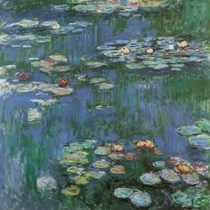 Claude Monet - Waterlilies, 1916. I still remember the first time I saw his collection in Paris. It was if someone had lit a match to me. Wow!