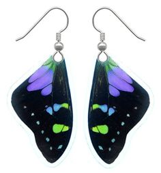 Real Butterfly Wing Earrings - Graphium Weiskei Butterfly Asana Natural Arts http://www.amazon.com/dp/B00B904OSE/ref=cm_sw_r_pi_dp_L2ztwb0M65MMH