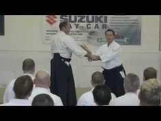 Aikido: Christan TISSIER in Budapest 2013 (showing and explaining technique)