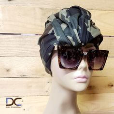 Camouflage Print Turban Headwrap