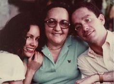 Rosalía Daza y sus hijos Josefina y Celso