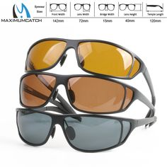 90a1318d8c4 Maximumcatch Titanium Metal Frame Fly Fishing Polarized Sunglasses Brown  Yellow And Gray To Choose Fishing Sunglasses