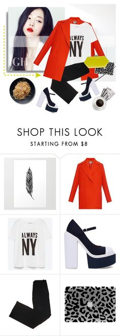 """""""NY State of Mind"""" by pattykake ❤ liked on Polyvore featuring Sportmax, Zara, Jeffrey Campbell, CÉLINE, 7 For All Mankind and Oscar de la Renta"""