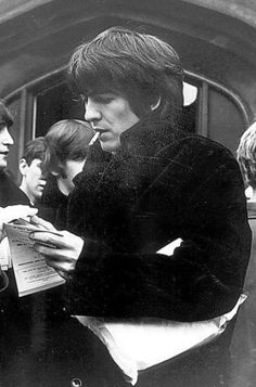 George, 1965 or early '66. His cheekbones are amazing and he's so cute