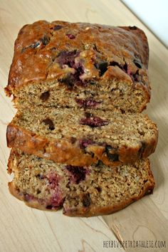 Vegan Dark Chocolate Raspberry Banana Bread..used bob's red mill GF flour and baked for 1 hour..yummy yummy!