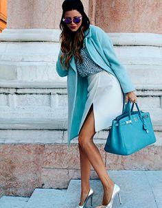 Жаклин, стиль, одежда, може, голубое, сумка, модель, пальто, брюнетка