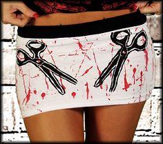Horror Punk Rock Gothic Alternative Womens Goth Mini Skirts